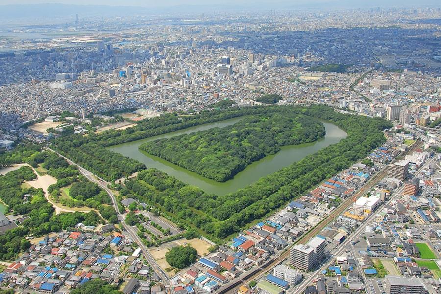 百舌鳥・古市古墳群が一望できる堺市役所21階展望ロビ