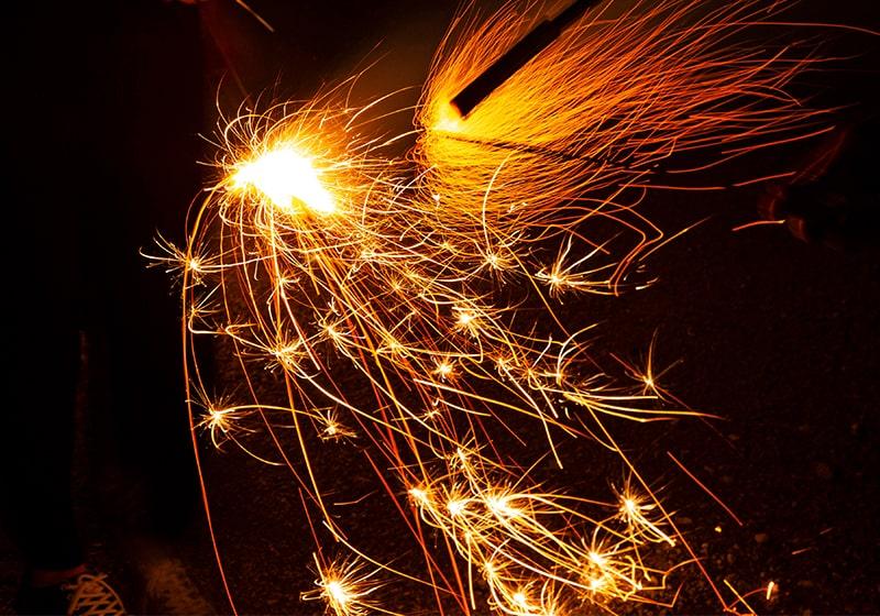 とても美しい日本の手持ち花火