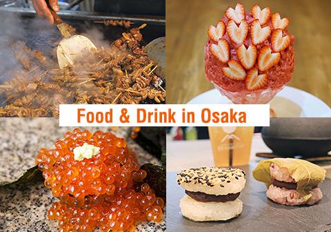 大阪のホルモン屋とかき氷とカフェと寿司が載った写真
