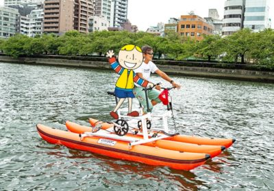 Water Bike!? <br>City SUP cycling at Hachikenyahama