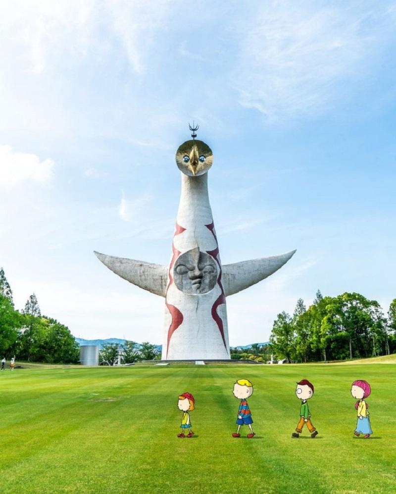 今や大阪のシンボルでもある太陽の塔