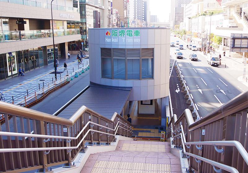 阪堺電車の天王寺駅前駅