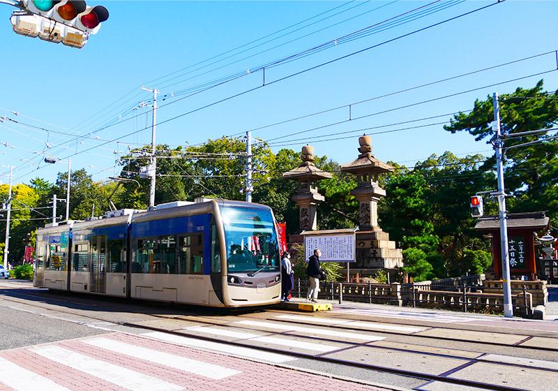阪堺電車の住吉鳥居前駅