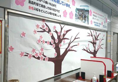 メトロ南森町駅に「希望の桜」