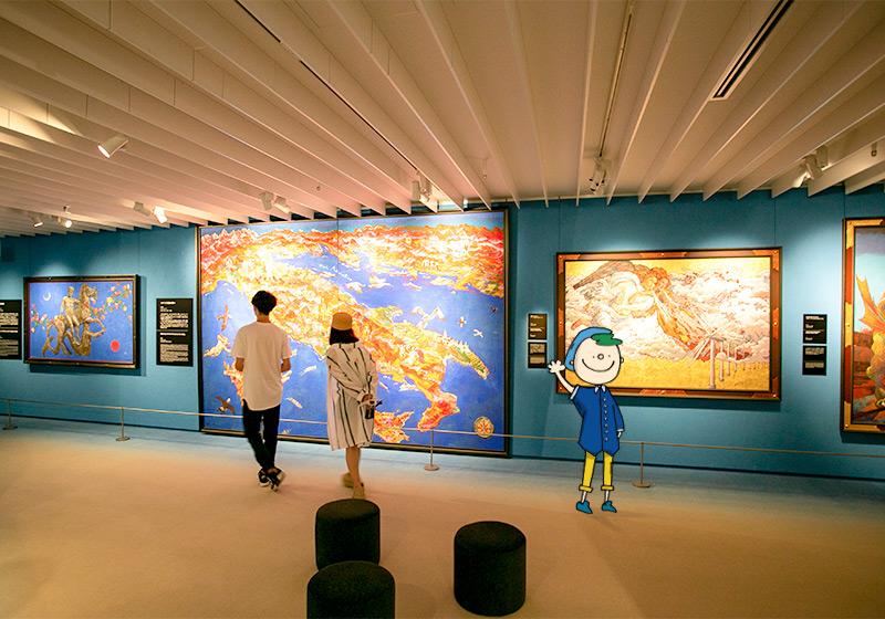 絹谷幸二天空美術館の展示