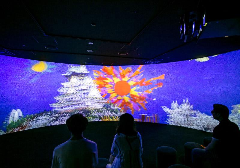 絹谷幸二 天空美術館の3D映像体験