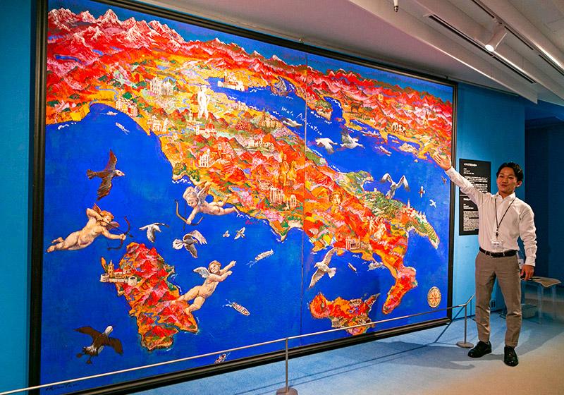 高橋さんお気に入りの絹谷作品「イタリア天空の調べ」