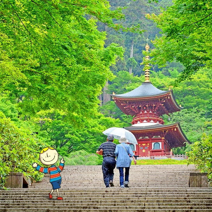 雨の日の勝尾寺
