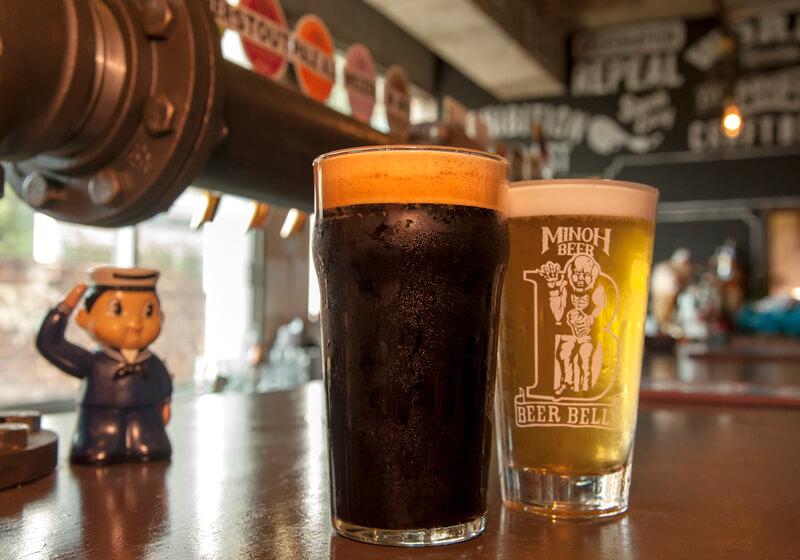 箕面ビール直営店で飲み比べ「BEER BELLY」