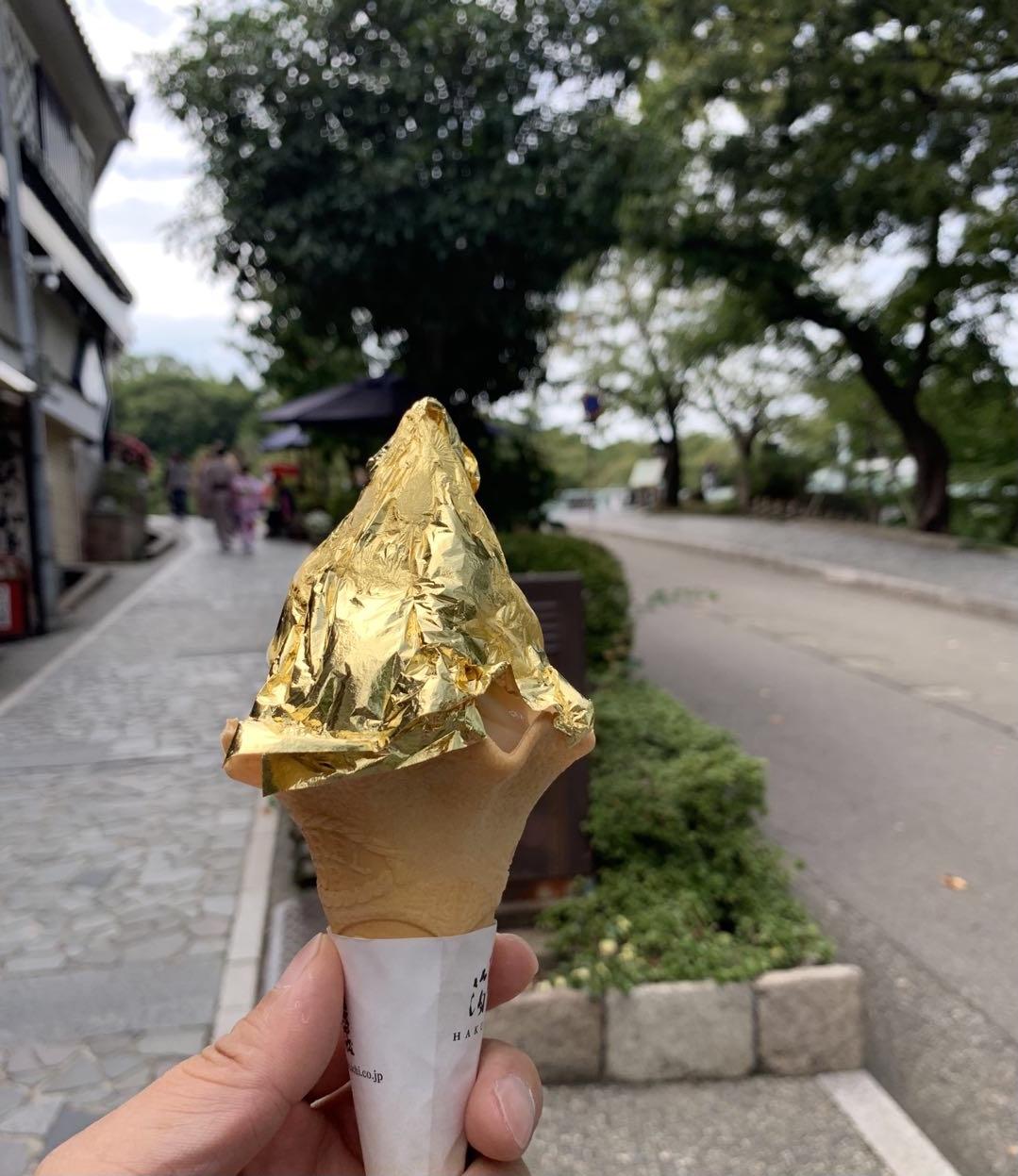 日本独特金箔冰淇淋