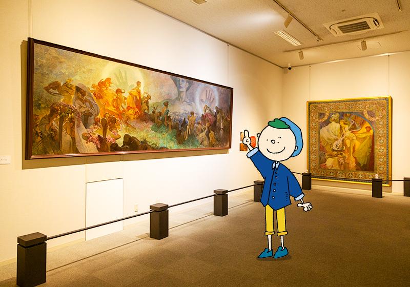 堺ミュシャ芸術博覧会の第1展示室「グラン・パレ」