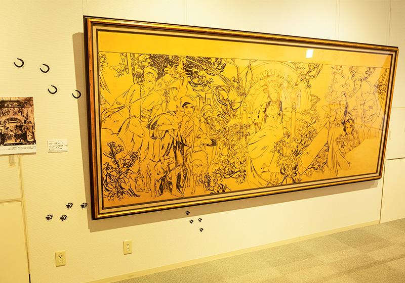 堺ミュシャ芸術博覧会で展示されているアルフォンス ミュシャのデッサン