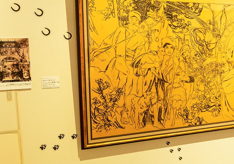 堺ミュシャ芸術博覧会の子供が楽しめる展示方法
