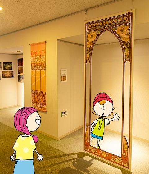 堺ミュシャ芸術博覧会の撮影スポット