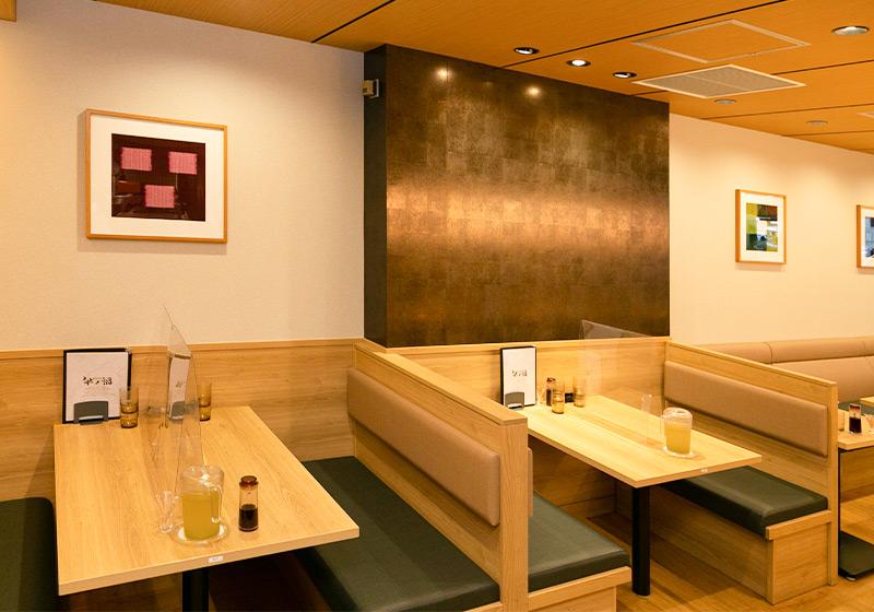 ビフテキ重専門店「牛ノ福」クリスタ長堀店のテーブル席