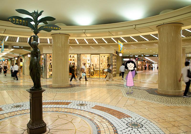 ディアモール大阪の広場