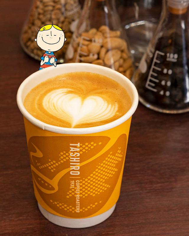 TASHIRO COFFEE ROASTERSのラテ
