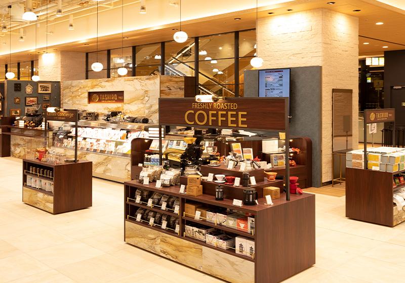 阪神百貨店内にあるTASHIRO COFFEE ROASTERSの店内